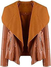 Mujer y Niña abrigo otoño fashion fiesta,Sonnena ❤️ Abrigo informal de mujer otoño invierno Blusa con cierre de cremallera abrigo de mujer elegante