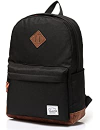 f006b5cfa277 Vaschy Unisex Classic Lightweight Water Resistant Campus School Rucksack  Travel Backpack Fits 14-Inch Laptop