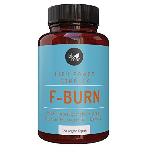 F-BURN Kapseln - Monatspackung - 100% Natürlich & vegan - f-brn Komplex mit Grüntee Extrakt,...