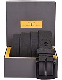 Urban Forest SCOTT Grey Leather Belt for Men