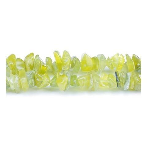 Fil De 240+ Jaune Jade Olive 5-8mm Perles Chips - (GS5205) - Charming Beads