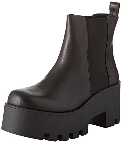 Black Leather Smith Nero Alien Stivaletti Donna Windsor 640qvv