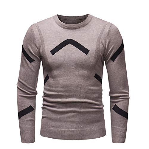 Herren Strickpullover,TWBB Warm Streifen Strickwaren Casual Oberteile Pullover Schlank Sweatshirt Lange Ärmel Shirt