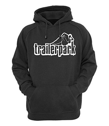 Trailerpark Hoody Logo schwarz, Farbe:schwarz, Größe:L Schwarz Logo Hoody