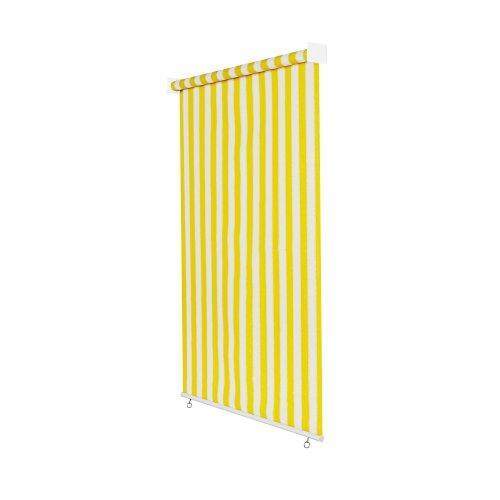 JAROLIFT Außenrollo / Senkrechtmarkise 100 x 140 cm (BxH) gelb - weiss
