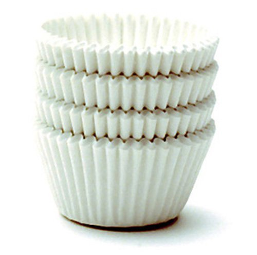 White Paper Cups (Norpro Giant White Paper Muffin Cups Cupcake Baking Liner Set Of 48 (2-Pack))