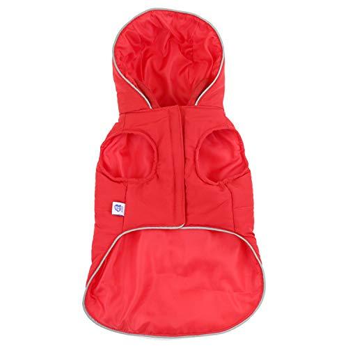 PZSSXDZW Haustierkleidung Hund Herbst und Winter warme reflektierende Weste Mode Jacke im Freien Verdickung mit Kapuze ()