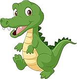 kleberio Aufkleber Krokodil Tiere Alligator Sticker Auto Motorrad Carravan wetterfest 10 x 10 cm