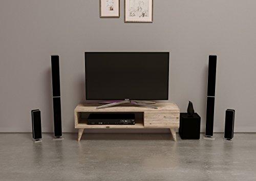 MAYA TV-Lowboard / Natur-Holzfarbe / TV-Board – Fernsehtisch in elegantem Design - 2