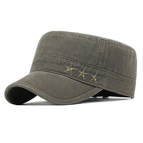 Kuyou Vintage Schirmmütze Baseball Kappe Army Military Cap Mütze (Armeegrün)