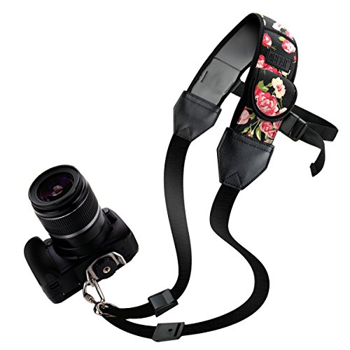 TrueSHOT Correa para el Cuello Cámara Réflex / Soporte Hombro de Cámaras DSLR - Nikon D5300 D5500 D3300 D3200 D500 Canon EOS 700D 750D 1300D 6D Sony Alpha A6300 A6000 A7 Pentax K50 y más