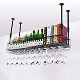 Weinregale Stemware Racks, Deckenhängenden Weinflaschenhalter Metall Becher Weinglas Rack (größe : 100 * 25cm)