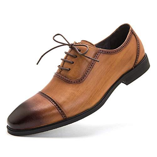 Shoes-YRQ Männer Leder Fahrschuhe Casual Slip on Walking Loafers Schuhe Formelle Business-Schuhe,Braun,44 (Jungen-brown-leder-kleid-schuhe)
