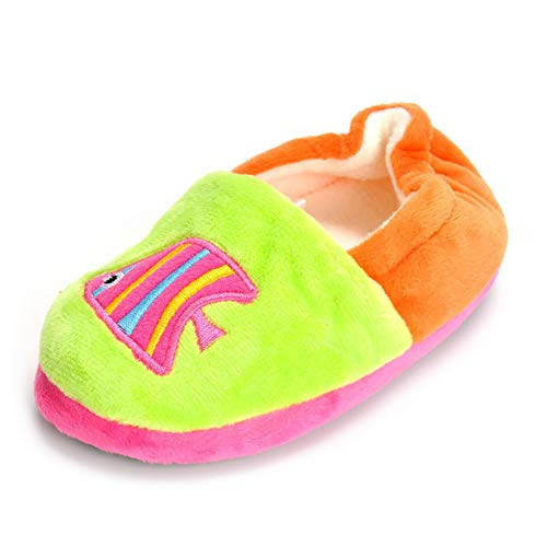 Matt Keely MK Toddler Boys Girls Cute Cartoon Slippers Winter Warm Plush Home Shoes