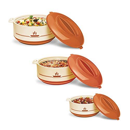 Milton Buffet Insulated Steel Casseroles, Junior Gift Set, 3 Pieces,...