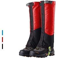 FAMLYJK Piernas de la Pierna - Zapatillas Impermeables para la Nieve de Las Polainas, montaña al Aire Libre para Caminatas Escalada Cubierta de la Pierna de Caza,Red