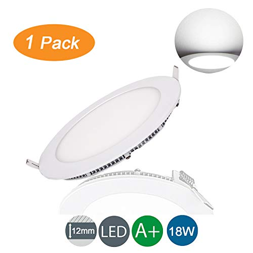 Foco Empotrable led Techo Slim Extraplano Redondo Kambo 18W 1500lm Focos Downlight...