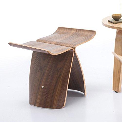 ZHDC® Kreative kleine Bank Hocker niedrigen Stuhl Wohnzimmer Stuhl Butterfly Hocker Holz Hocker Ändern seiner Schuhe Hocker Schuh Hocker Mode einfach Fauler Stuhl ( Farbe : #3 ) (Wohnzimmer Stuhl Kleines)