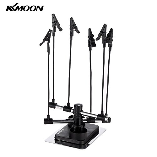 kkmoon Professional Airbrush Hobby Modell Teil Holder Sechs Alligator Clip Stand Sprühpistole Teile Holders Auto Malerei Booth