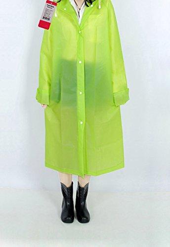ColorDrip Écologique Eva Femmes De La Mode Translucide Imperméable Vert Pomme