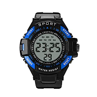 Candyly Mens Digital Sports Watch, Males Waterproof Electronic Watches Cool Fashion Large Analogue Durable Wristwatch