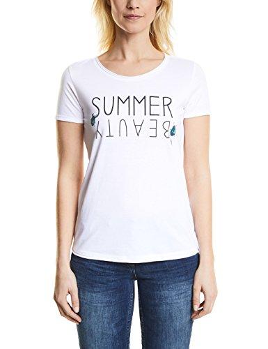Cecil Damen 311946 T-Shirt, White, Medium