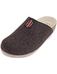 Bio Filz Pantoffel TWEED mit Fußbett & ABS-Filzsohle Gr. 36 - 47