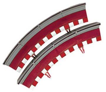 Scalextric - Borde valla curva standard universal (2) (Fábrica de Juguetes B02004X200) de Fábrica de Juguetes
