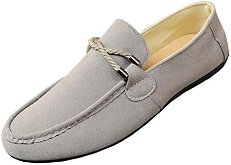 Xinvision New Hombres Informal Mocasines de Ante Loafers Planos Zapatos Pantuflas