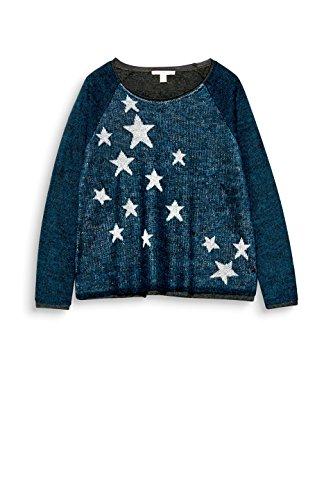 ESPRIT Damen Pullover Mehrfarbig (Petrol Blue 5 454)