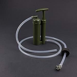 Portable filtre soldat de purificateur d 39 eau survie en plein air randonn e camp d 39 urgence - Purificateur d eau portable ...