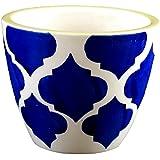 Homescapes Mini Ceramic Pot, Blue