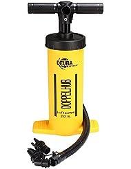 Pompe double piston - Déplacement de piston 2x1,5L - Robuste adaptateurs gonflage - Matelas bouée pneus vélo