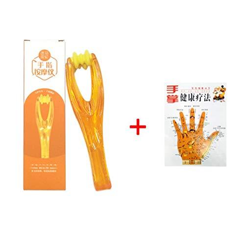 Handheld Muskel-massagegeräte (WEIWEITOE 1 stück Hand Finger gelenke massagegerät Handheld durchblutung Werkzeug dual Roller stressabbau schönheit Kunststoff Werkzeug gelenkmassagegerät, orange,)