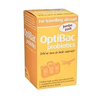OptiBac Live Cultures - 'For travelling abroad' - 60 Capsules