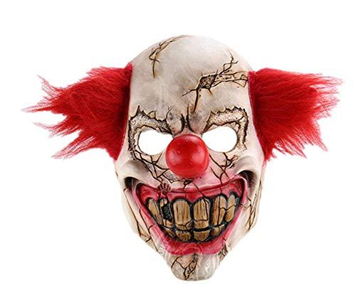 XUELIZHOU Horror Ghost Face Clown Halloween Weihnachten Verlobte Bar Dance Party Requisiten seltsame Latex Gruselmaske