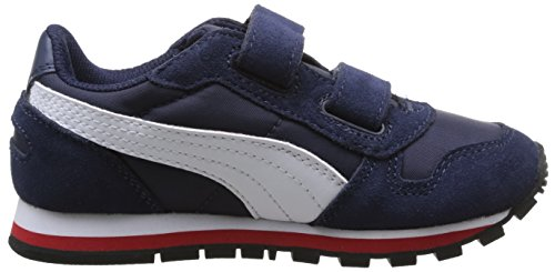 Puma St Runner Nl, Baskets mode garçon Bleu (Peacoat/White/High Risk Red)
