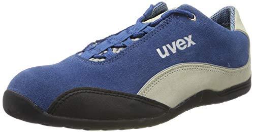 Uvex Motorsport Arbeitsschuhe - Sicherheitsschuhe S1 SRA - Blau-Weiß, Größe:44