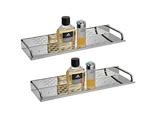 Mps Stainless Steel Shelves 16Inch For Bathroom ( Set Of 2 )