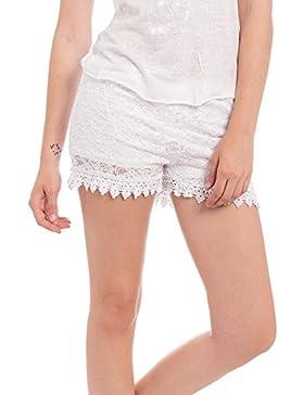 [Patrocinado]Abbino IG003 Pantalones Corto para Mujer Colores Variados - Entretiempo Otoño Invierno Comodo Calido Mujeres Elegante...