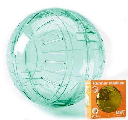 Europet Bernina 512-132449 Tierspielzeug Jogging Ball, 170 mm, M, transparent und orange mit Glitter