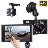 Yakola X5 (3Lens) Dashcam Rückfahrkamera,Ultra 1080P Full HD, 4,3