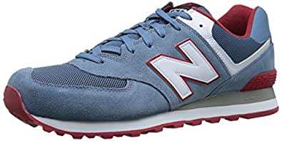 New Balance Men's 574 Glaucous and White Sneakers - 8.5 UK/India (42.5 EU) (9 US)