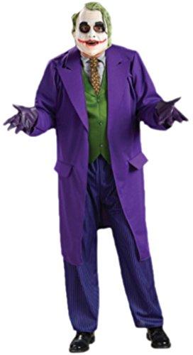 Karnevalsbud - Herren Kostüm The Joker mit Weste, Hose, Krawatte, Maske, Jacke und Shirt, XL, Violett