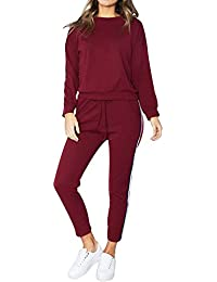 f8dd1dc1288 Tomatoa Women Ladies Tracksuit Set 2 Pieces Pajama Set Joggings Suit Ladies  Joggers Active Sport Loungewear