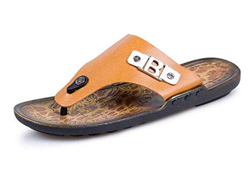shixr-herren-open-back-slippers-sommer-flip-flop-einfache-cool-pantoffeln-outdoor-sandalen-gelb-blau