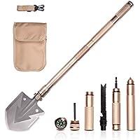 UMsky Military Folding Shovel - Herramienta de Trinchera Táctica Gear para Acampar Backpacking Senderismo Nieve para el Coche Supervivencia al Aire Libre 74cm/30