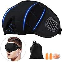 PRETTY SEE Schlafmaske Premium 3D konturierte komfortabler Augenmaske Augenbinde 100% Blackout und Verstellbarem... preisvergleich bei billige-tabletten.eu