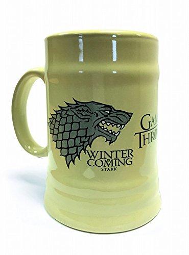Game Of Thrones - Stark House, Winter Is Coming, Humpen Beer Jug 600 ml Mug Photo (14 x 8cm)