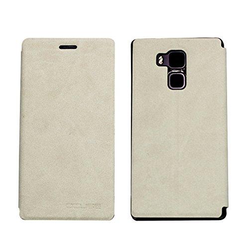 Guran® PU Leder Tasche Etui für Vernee Apollo Lite Smartphone Flip Cover Stand Hülle Case-weiß